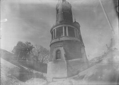 Caffenol #8: Gardoš (Lazar Popović-Zenit) Tags: caffenol experiment analog gardos gardoš zemun belgrade old tower