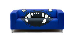 The Monster Klippan Covers by Artefly (arteflycom) Tags: vybrat ikea klippan cover slipcover artefly monster blue pillow cushion couch sofa seater settee cotton home decor design style