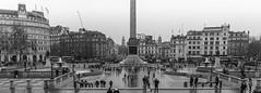 Trafalgar Square (LA Boy Sadler) Tags: london trafalgar square tonal panoramic black white