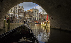 Gone with the gondolier (JoCo Knoop) Tags: utrecht gondolier