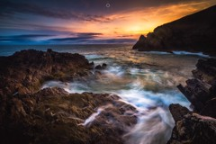 Kinetic Kaleidoscope (Augmented Reality Images (Getty Contributor)) Tags: canon cliffs clouds colours dawn landscape leefilters longexposure morayfirth portknockie rocks scotland sunrise water waves