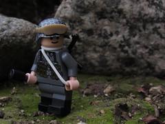 Darkness (Captain-Brick) Tags: lego wwii war woodland followers outdoors grass dark depth dirt captainbrick citizenbrick rock brickarms blurry brick moss mossy german soldier
