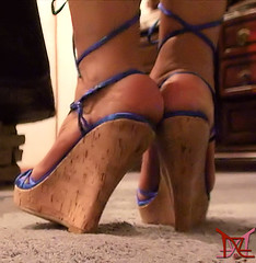 Loving Feeling (Claudio (Tania Zandalz - wife)) Tags: high heels shoes mature sexy latina kapikua1 female woman wife amateur mexico feet strappy wedges platform tacones altos zapatos madura femenina mujer esposa pies tiras cuñas plataforma sandals sandalias