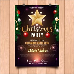 free vector Merry Christmas Party Poster (cgvector) Tags: abstract art background ball banner bauble border bow bright brochure card celebration christmas color cover december decor decoration decorative design di festive flyer frame gift graphic greeting happy holiday illustration invitation merry merrychristmas natal natale new ornament party poster present red ribbon season snowflake star template text tree typography vector vectors vintage winter xmas year