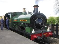 IMG_4747 - GWR Hudswell Clarke Saddle Tank 813 (SVREnthusiast) Tags: didcotrailwaycentre didcot railway centre gwrhudswellclarkesaddletank813 gwr hudswellclarke saddletank 813