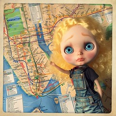 April Girl 2017   {Tristan Buttons}     ...All NYC Subway Trains are running on time!  Ha! Happy Fool's Day! :D
