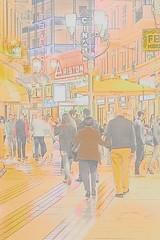 Sanremo Belle époque style (nuovalucefoto) Tags: ariston cinema teatro sera colori luci città vitanotturna persone riviera sanremo liguria italia theater evening colors lights city nightlife people italy
