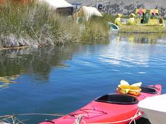 Kayak in Titicaca lake (Jose Alarco) Tags: kayak titicacalake urosisland