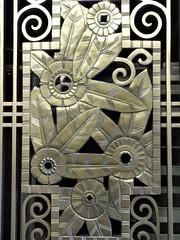 Chicago, Ogilvie Transportation Center, Art Deco Bronze Panel (Mary Warren (8.3+ Million Views)) Tags: chicago abstract lines curves ogilvietransportationcenter bronze metal artdeco flowers leaves