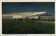 Postcard of Sky Harbor Airport (Nashville Public Library) Tags: nashville aviation flight airplane airport tennessee tn national guard sky harbor postcard night
