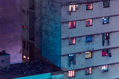 Johannesburg (elsableda) Tags: night long exposure johannesburg joburg jozi southafrica windows light building buildings architecture midnight africa elsa bleda colors pruple purple pink blue