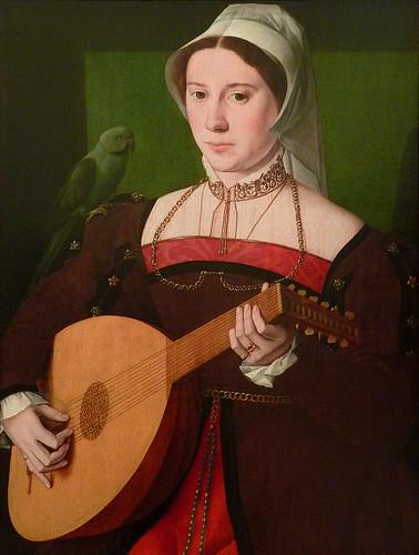 PAYS-BAS 16e - Portrait de Femme jouant du Luth - 0
