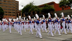 Bands of America Honor Band (Prayitno / Thank you for (12 millions +) view) Tags: konomark hs high school teen boys girls marching band cute white plum outdoor activity tor tournament roses rose parade pasadena ca california la los angeles just walking day time gloomy morning cloudy horn trombone line