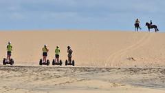 Four legs bad, two wheels good? (Rum Bucolic Ape) Tags: horse segway beach capeverde dune