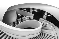 DSC00339.jpg (Mac'sPlace) Tags: interior museumofliverpool liverpool curves mono black white stairs people blur