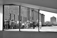 031917-919Fx (kzzzkc) Tags: nikon d7100 usa missouri kansascity nelsonatkins museumofart people window bw