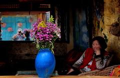 (johey24) Tags: vivid colourful china lijiang southernchina placestosit self blue restaurants matchpointwinner mpt543