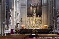 Anne d'Auray (33) (José María Gil Puchol) Tags: architecturereligieuse auray auteldesaintjeanpaulii basiliquenéogothique chemindesaintjacquesdecompostèle choeurdéglise cierge jeanpaulii josémariagilpucholphotographe orgues pierredekeriolet religioncatholic sainteannedauray yvonnicolazic
