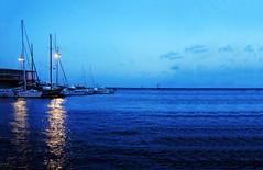 (Vindeca Raine) Tags: photography landscapes seascapes sea boats sky blue bluesky water lights italy sardegna cagliari