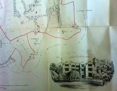 1871 Bispham Estate Plan: extract showing the Brownlow School etc (The Makerfield Rambler) Tags: billinge bisphamhall