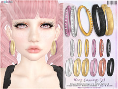 [ bubble ] Hoop Earrings Set (::: insanya ::: & [ bubble ]) Tags: secondlife bubble originalmesh accessories earrings hoops mesh hud exclusive thechapterfour under100l discounted