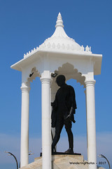Memorial Statue of Gandhi - Pondicherry India (WanderingPhotosPJB) Tags: india pondicherry puducherry unionterritory french memorial statue gandhi
