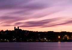 Evening Flow (Karen_Chappell) Tags: night evening sunset stjohns newfoundland longexposure nd110 harbour scenery scenic seascape landscape atlanticcanada atlantic avalonpeninsula eastcoast downtown city skyline clouds ocean sea purple pastel colourful silhouette church architecture buildings urban nfld lights
