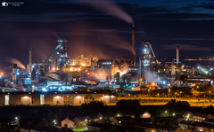 Port Talbot steel works (technodean2000) Tags: port talbot steel works south wales uk night sky line panorama lightroom outdoor city architecture skyline water waterfront dusk building