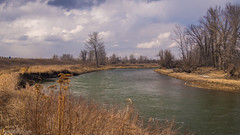 Around the next bend (kensparksphoto) Tags: bowriver fishcreekpark fishcreekprovincialpark dramatic clouds sky channel