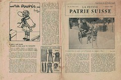 La Petite PATRIE SUISSE 1932-1933 promenade des anglais nice Guerre amputee des deux jambes WWI veteran double amputee in dog pulled cqrt. Photo by joller (Yvonne Thompson) Tags: soldier wwi 1918 physicaldisability france assistivetechnology amputees 1932 dogcart amputeedog ampute guerre nice 1933 french magazine publcation publication childrens