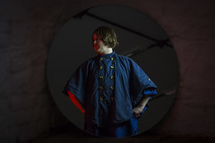 Count Vaseline (SteMurray) Tags: approved count vaseline ireland irish musician usa south studios red rock roll singer songwriter cape stefan murphy mighty stef studio lights gels mirror reflection stool navy blue