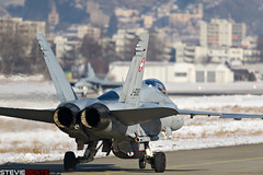 Swiss Air Force F-18 (steviebeats.co.uk) Tags: switzerland swiss air f18 sion snow mountains cold winter force wef world economic forum combat patrol