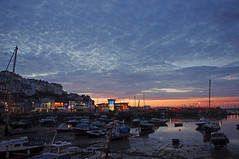D13032.  Brixham Harbour. (Ron Fisher) Tags: brixham southdevon devon westcountry westofengland torbay england gb greatbritain uk unitedkingdom europe pentax pentaxkx coast devoncoast sea sunset water ocean sky cloud boats evening harbour