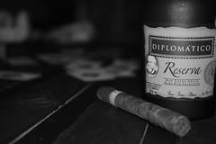DSC_0186 (kevinnemetz) Tags: rhum noiretblanc monochrome blackandwhite diplomatico cohiba poker