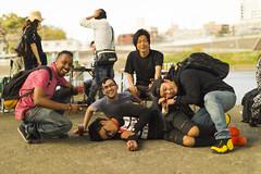 Spring BBQ-20 (Tommy_Adams) Tags: spring bbq barbecue japan tokyo futagotamagawa drinks drunk foreigner gaijin japanese river side portraits people