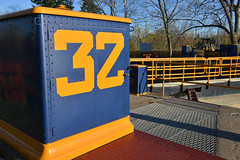 At Erie Canal Lock 32 (dr_marvel) Tags: erie ny newyork pittsford lock lock32 32 eriecanal rochester waterway canal blue yellow