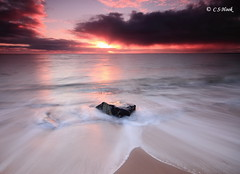 Breaking Through (carmellestewarthook) Tags: sugar sands seascape lee rocks 70d northumberland sunrise stewarthook