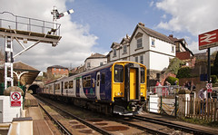 150275 Knaresborough 17/04/2017 (Flash_3939) Tags: 150275 150117 class150 pair double dmu dieselmultipleunit northern arrivarailnorth livery new 2c33 knaresborough kna station rail railway train uk april 2017