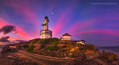 Sunset Reflections Over Point Lonsdale Lighthouse (Lachlan Manley Photography) Tags: lighthouse reflection sunset pinkskies pinkclouds