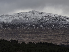 Textured Hill - Glen Orchy April 2017 (GOR44Photographic@Gmail.com) Tags: glen orchy mountain snow a82 scotland cloud argyll gor44 olympus omdem5 panasonic 45150mmf456 trees rocks spring