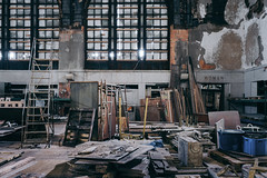 all.the.hours (jonathancastellino) Tags: abandoned derelict ruin ruins ny train station waitingroom hall leica q sebald austerlitz synchronicity memory pain destruction window windows roomfull women sign bct buffalo decay quote book architecture ladder storage ngc