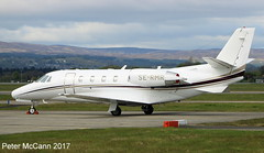 SE-RMR C560XLS Glasgow April 2017 (pmccann54) Tags: sermr cessna560xls