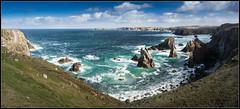 Mangarstadh sea stacks (Donald Noble) Tags: lewis mangarstadh naheileanansiar outerhebrides scotland westernisles coast coastline rock sea seastack water wave waves