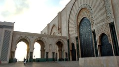 Hassan II Mosque (tesfackler) Tags: mosque casablanca travel morocco hassanii mosaic sunset