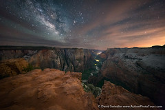 Parting Clouds (David Swindler (ActionPhotoTours.com)) Tags: night utah milkyway observationpoint stars zion virginriver zionnationalpark nightscape zioncanyon clouds