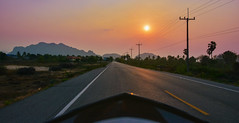 Following the Sun (free3yourmind) Tags: following sun lonely road motorbike motorcycle travel explore adventure exploraiton thailand mountains sunset colorful