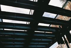 Camden Road Train Bridge (@JackLongman_Photo) Tags: 35mm london street camden trains bridge sky canoneos500 canoneos500n film photograph filmisntdead ishootfilm uk