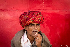 Red (karmajigme) Tags: red portrait man human rajasthan india color colorful streetphotography travel nikon