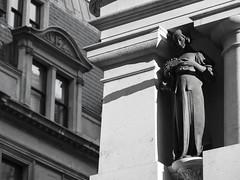 Detail of Lloyd's Registry, 71 Fenchurch Street, City of London, London EC3, UK (Ministry) Tags: lloydsregistry fenchurchstreet cityoflondon london ec3m uk bronze statue george frampton collcutt listed building lloydsavenue ec3