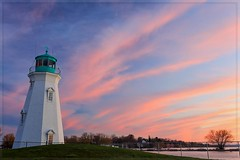 Port Dalhousie Lighthouse (Note-ables by Lynn) Tags: lighthouse portdalhousie ontario sunset skies lakeontario